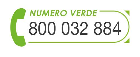 chiamaci al numero verde 800 032884