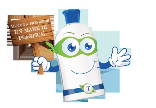 aiutaci a prevenire un mare di plastica!